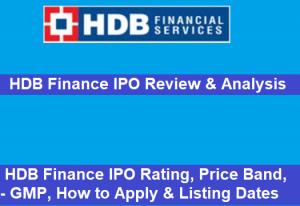 HDB Finance IPO
