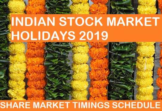 INDIAN STOCK MARKET HOLIDAYS & TIMINGS
