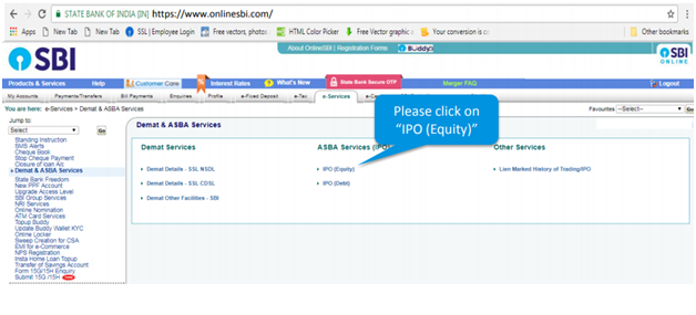 How to fill ipo online sbi