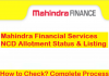 Mahindra Finance NCD Allotment
