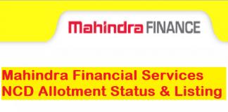 Mahindra Finance NCD Allotment