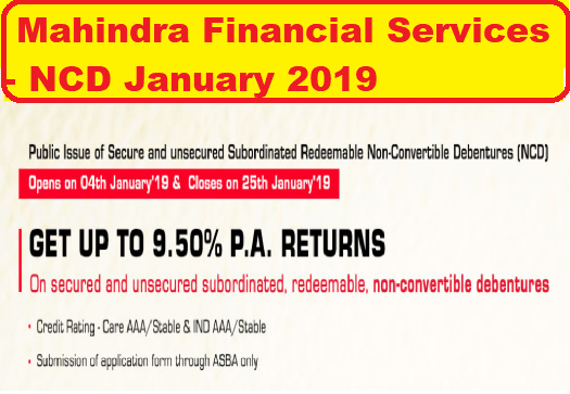Mahindra Finance NCD